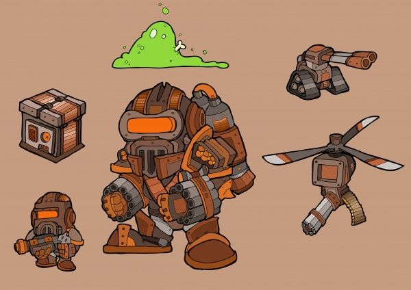 Some enemy examples for working project Steam Pipe Mutiny